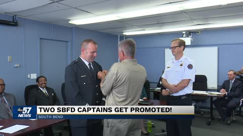 Two South Bend Fire Department members promoted